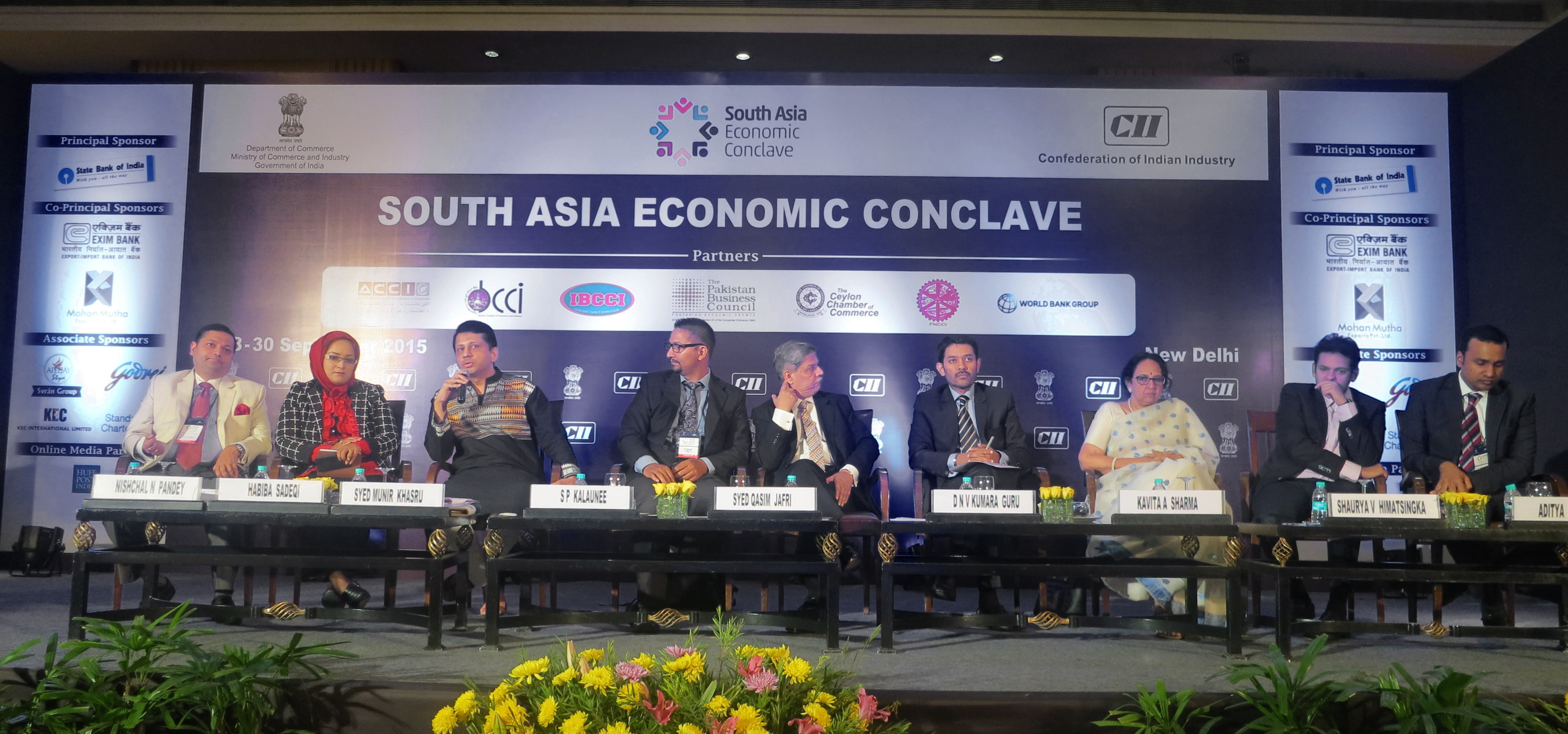 The South Asia Economic Conclave, September 28-30 , 2015