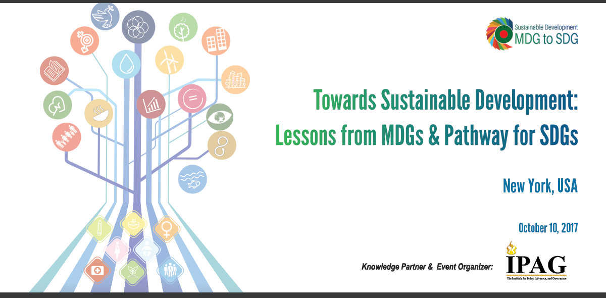 Towards Sustainable Development: Lessons from MDGs & Pathway for SDGs
